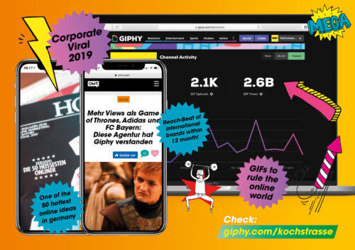 """International-GIF-Social-Viral-Corporate-Brand-Design """"We GIF it to you!"""""""