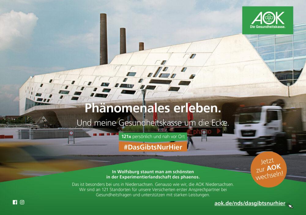 kochstrasse.agency Credentials & Cases – AOK Niedersachsen – #dasgibtsnurhier Regionalisierte Jahreskampagne 2019