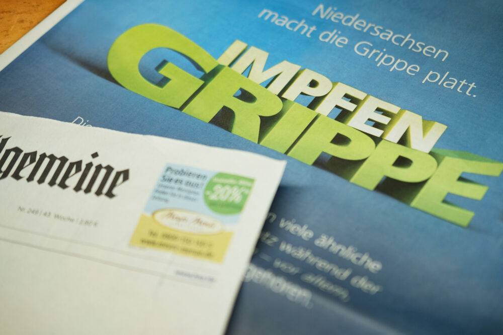 kochstrasse.agency Credentials & Cases – AOK Niedersachsen – Kampagne – Niedersachsen macht die Grippe platt.