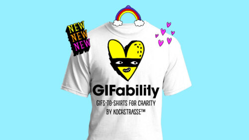 GIFability GIFs-to-Shirts for Charity