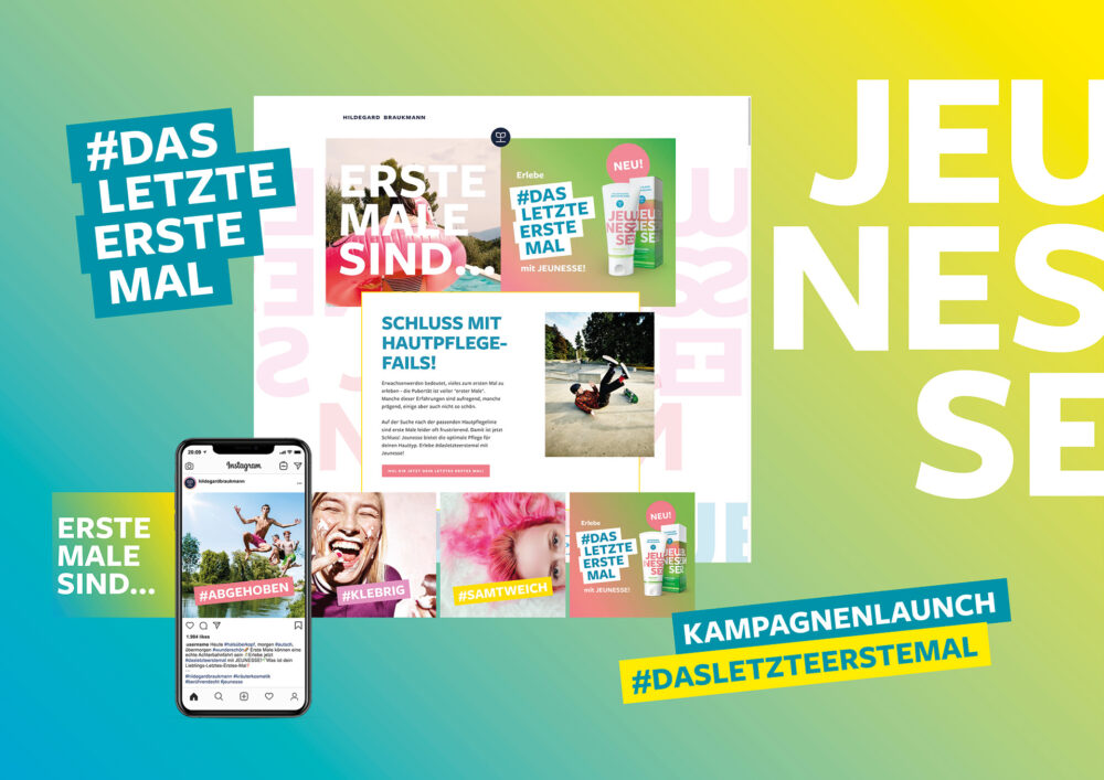 kochstrasse.agency Credentials & Cases – Hildegard Braukmann – JEUNESSE Markenkommunikation – Digitale Kampagne – BRAND IDENTITY