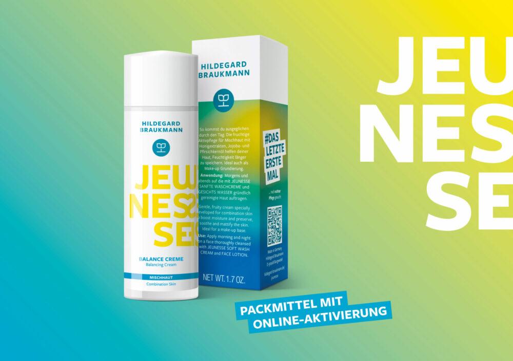 kochstrasse.agency Credentials & Cases – Hildegard Braukmann – Packaging-Re-Design der JEUNESSE Hautpflege-Produktrange