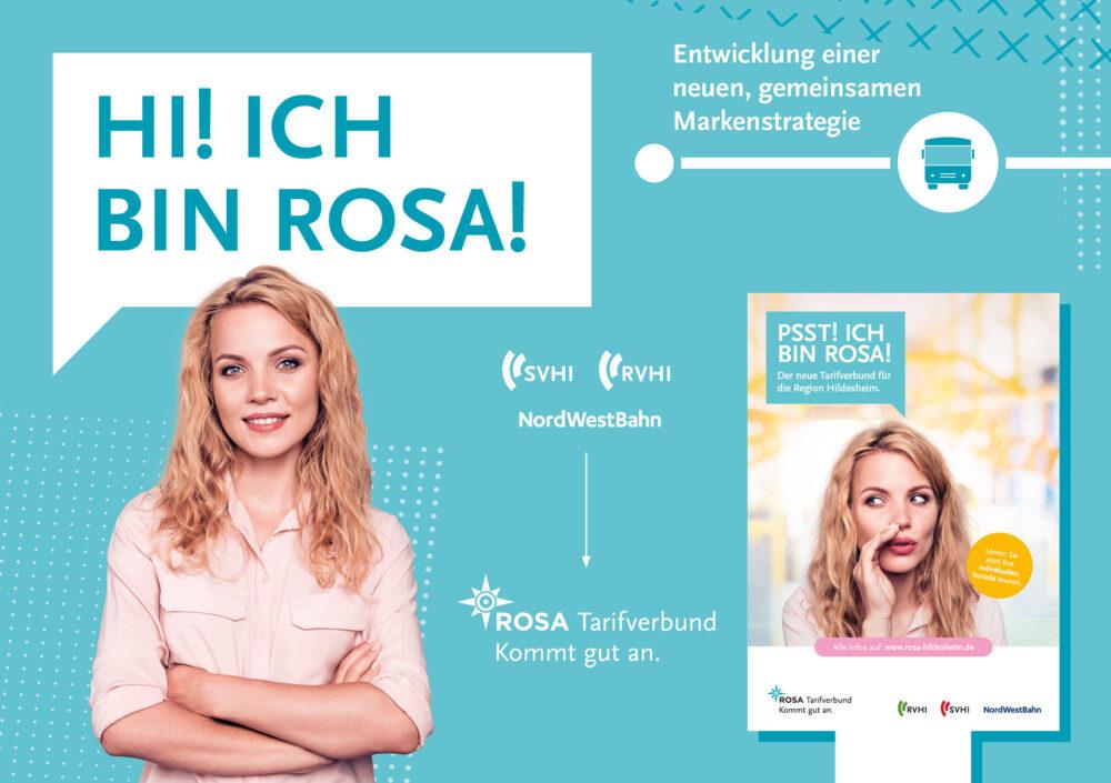 kochstrasse.agency Credentials & Cases – SVHI Stadtverkehr Hildesheim – Rosa. Kommt gut an. – Brand Identity